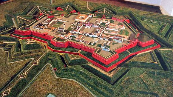 Замосць (XVII век) - модель реконструкция. Замосць - личный город-крепость польских магнатов Замойских, в котором в 1720 г. прошел Замойский собор.