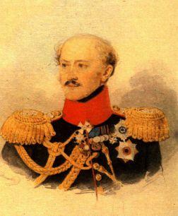 А.Х. Бенкендорф. Портрет работы П.Ф. Соколова. 1834-1835