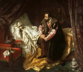 Йозеф Зимлер. Смерть Барбары Радзивилл (1860)