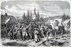 Литография из французского журнала «Le monde illustre» о польском восстанию 1863 г..