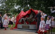 Открытие памятника Монюшко и Дунину-Марцинкевичу в Минске.