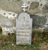 д. Ручица. Старое надгробие с могилы казаков мучиников