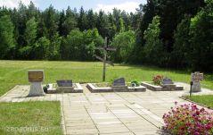 г. Вилейка Захоронение на кладбище Лесное. Общий вид.