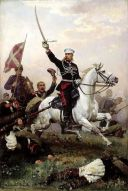 «Генерал М. Д. Скобелев на коне». Н. Д. Дмитриев-Оренбургский, (1883).