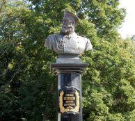 Памятник генералу Скобелеву в Музее-усадьбе М.Д. Скобелева в Заборово Рязанской области