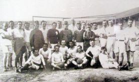 Русская футбольная команда в терезинском лагере для военнопленных времен 1й мировой войны.