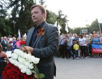 Матеуш Пескорски в Донецке (ДНР)