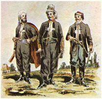 «Зуавы смерти» времен польского мятежа 1863 г., в составе которых преобладали студенты и гимназисты (ходили в бой под «Марш зуавов» предположительно на музыку Монюшко, потом в русском переводе ставшим «Варшавянкой»).