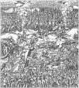 Начало сражения под Оршей. Гравюра из книги Марчина Бельского «Хроника польская». 1597 г