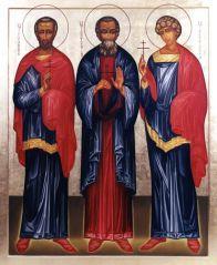 икона Виленских мучеников Антония, Иоанна и Евстафия